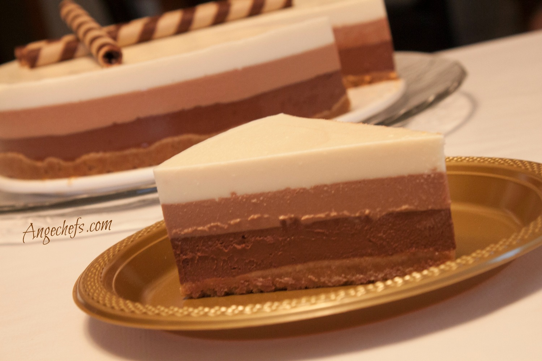Tarta de Tres Chocolates!-3 angechefs.com 2