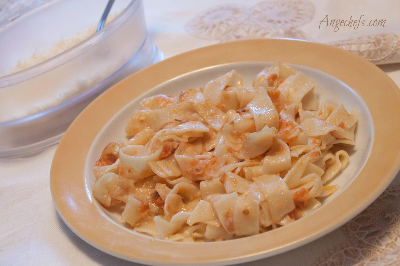 Tagliatelle gratinados con Queso Parmesano-3 angechefs.com-2