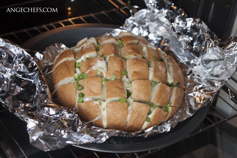 Pan relleno de Queso y Ajo al horno!-2