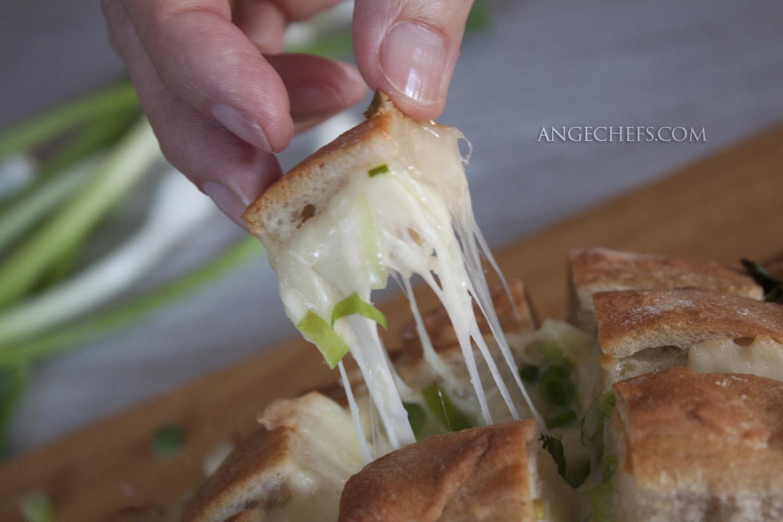 Pan relleno de Queso y Ajo al horno!-6
