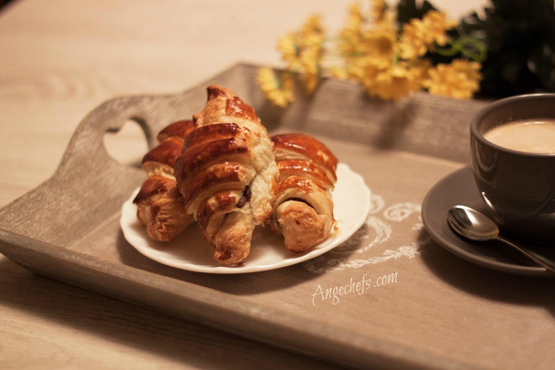 Croissants de hojaldre rellenos de chocolate!-2 angechefs.com
