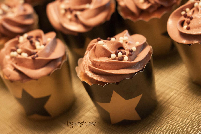 Cupcakes de Plátano, Nueces y Chocolate!-3 angechefs.com